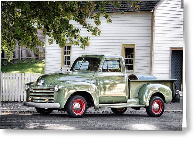 Old Chevrolet Pickup Truck Greeting Card by Patrick M Lynch