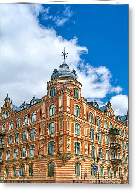 Lund Greeting Cards - Old corner building Greeting Card by Antony McAulay
