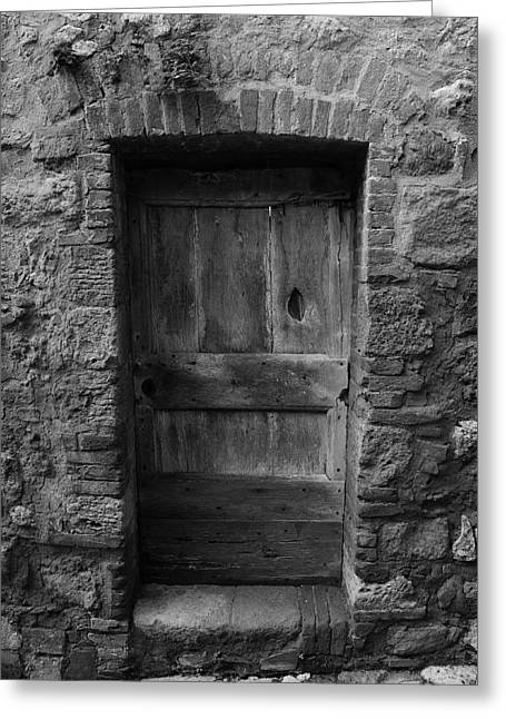 Lucca Greeting Cards - Old Door in Lucca Italy Greeting Card by Maersk