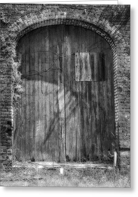 Entryway Greeting Cards - Old Door Old Building Greeting Card by Mountain Dreams