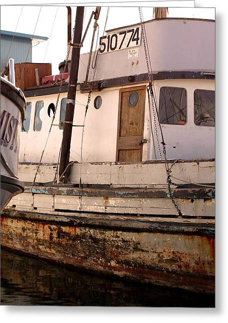 Santa Cruz Pier Greeting Cards - Old Fishing Boat Greeting Card by Scott Hill