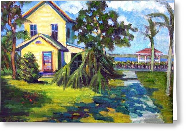 Charlotte Paintings Greeting Cards - Old Florida Greeting Card by Wanda Carter