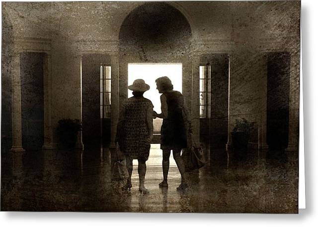 Classical Style Greeting Cards - Old Friends Greeting Card by Diana Angstadt