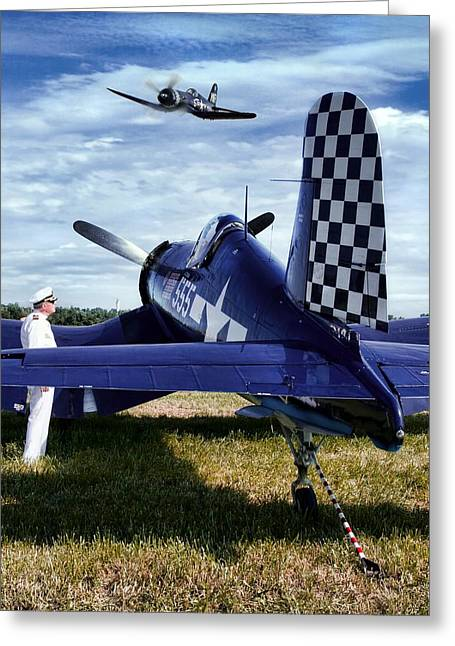 Propeller Greeting Cards - Old Friends Greeting Card by Peter Chilelli