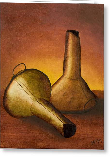 Funnel Greeting Cards - Old Funnels Greeting Card by Garry McMichael