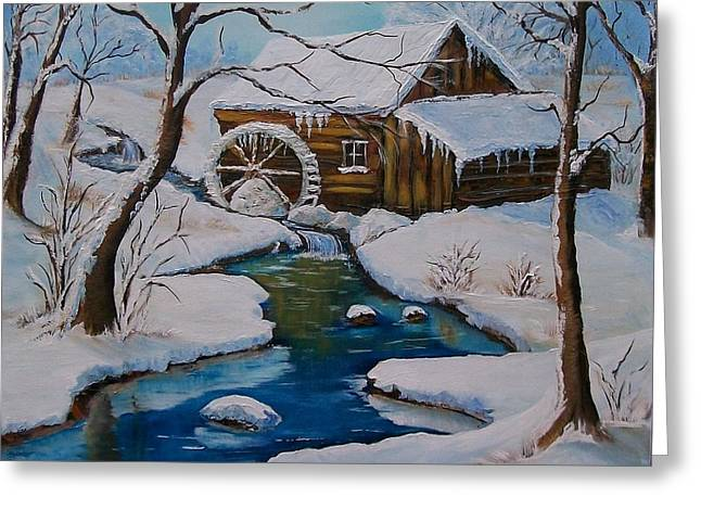 Grist Mill Greeting Cards - Old Grist Mill  Greeting Card by Sharon Duguay
