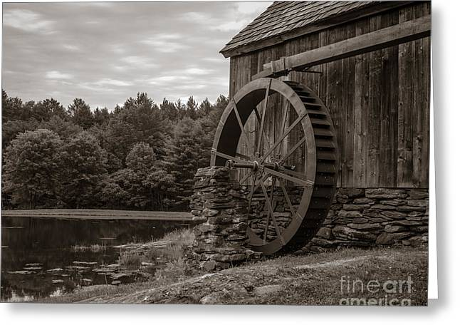 Grist Mill Greeting Cards - Old Grist Mill Vermont Greeting Card by Edward Fielding