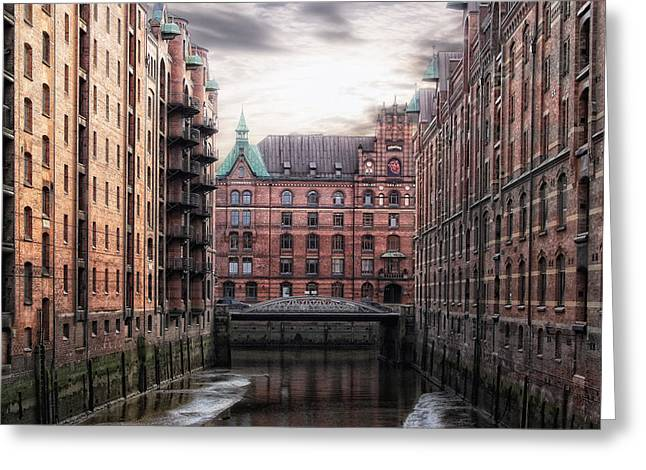 Old Hamburg Greeting Card by Joachim G Pinkawa