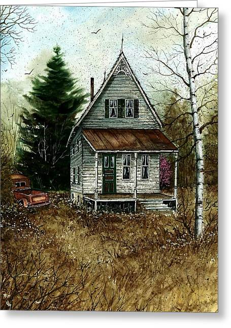 Award Winning Art Greeting Cards - Old Homestead Greeting Card by Steven Schultz