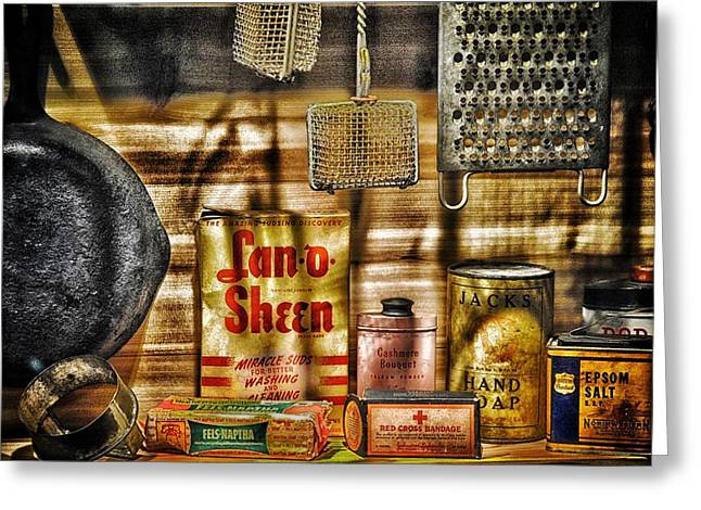 Run Down Mixed Media Greeting Cards - Old House wares Greeting Card by Todd and candice Dailey