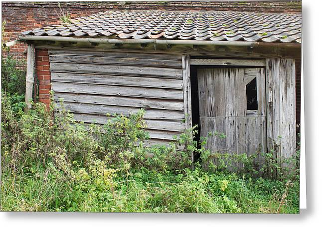 Collapsing Greeting Cards - Old hut Greeting Card by Tom Gowanlock