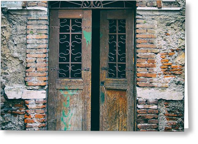 Old Italian Doorway Greeting Card by Mountain Dreams