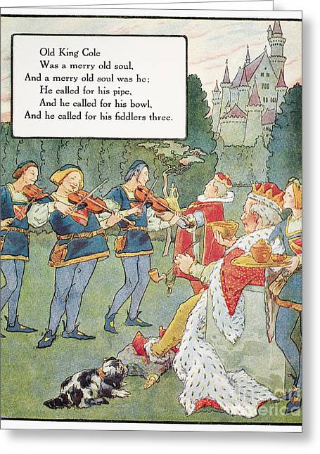 Mother Goose Greeting Cards - Old King Cole Greeting Card by Granger