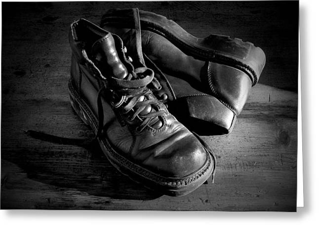 Shoes Greeting Cards - Old leather shoes Greeting Card by Fabrizio Troiani