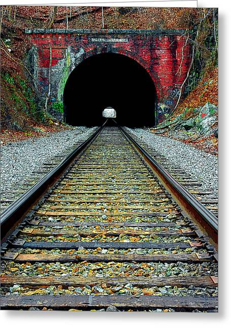 Mike Flynn Greeting Cards - Old Main Line Greeting Card by Mike Flynn