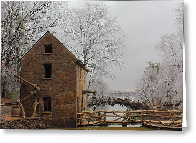 Grist Mill Greeting Cards - Old Mill Greeting Card by Karen Beasley