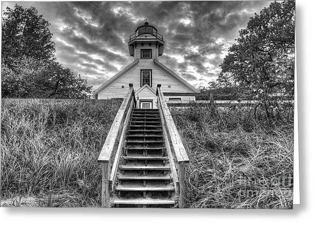 Traverse City Greeting Cards - Old Mission Lighthouse Greeting Card by Twenty Two North Photography