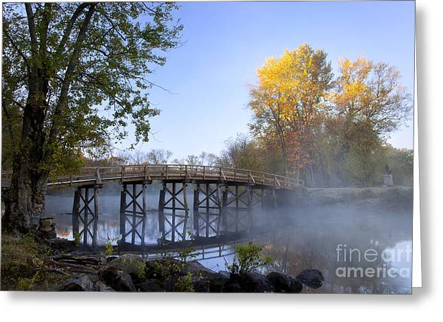 Concord Massachusetts Photographs Greeting Cards - Old North Bridge Concord Greeting Card by Brian Jannsen