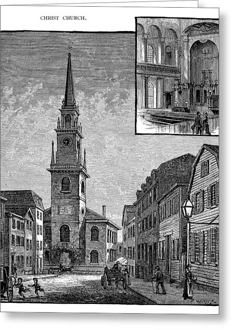 Old North Church Greeting Cards - Old North Church, 1775 Greeting Card by Granger