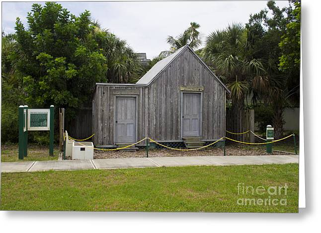Old Post Office in Melbourne Beach Greeting Card by Allan  Hughes