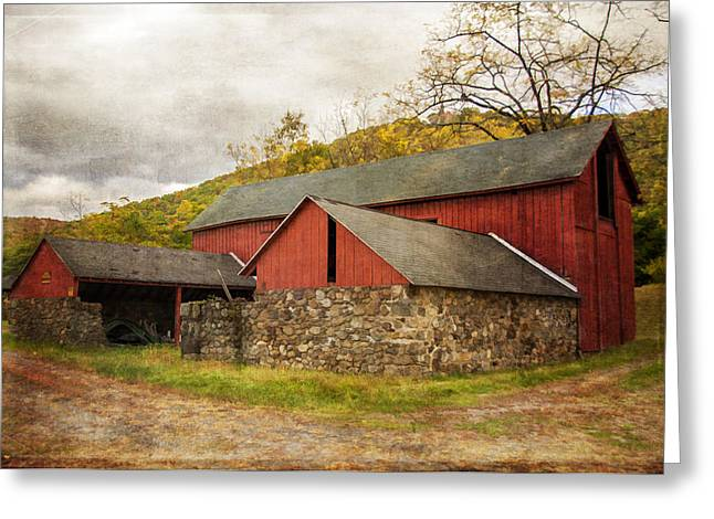Shed Greeting Cards - Old Red Barn Greeting Card by Cathy Kovarik
