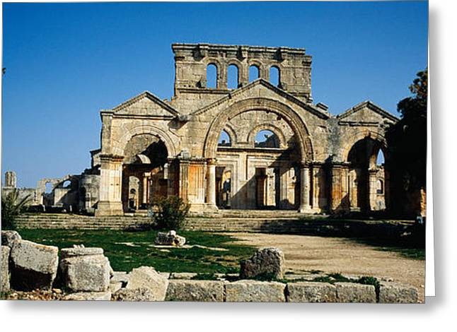 Byzantine Greeting Cards - Old Ruins Of A Church, St. Simeon The Greeting Card by Panoramic Images