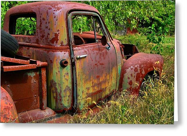 Old Trucks Greeting Cards - Old Rusty Greeting Card by Julie Dant