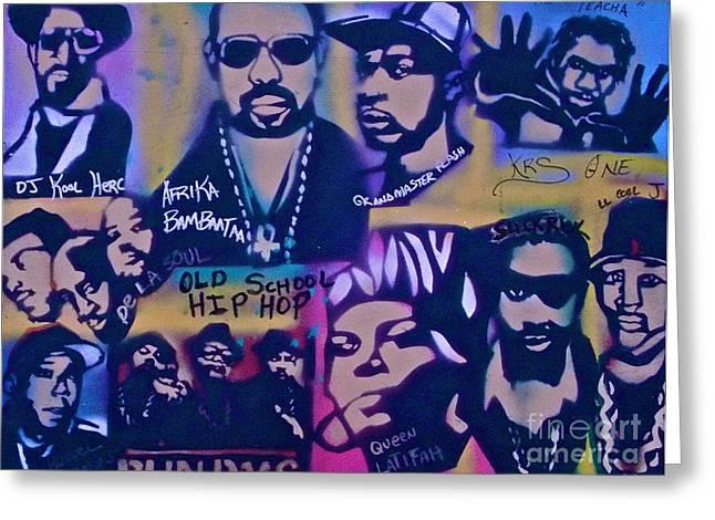 De La Soul Greeting Cards - Old School Hip Hop 3 Greeting Card by Tony B Conscious