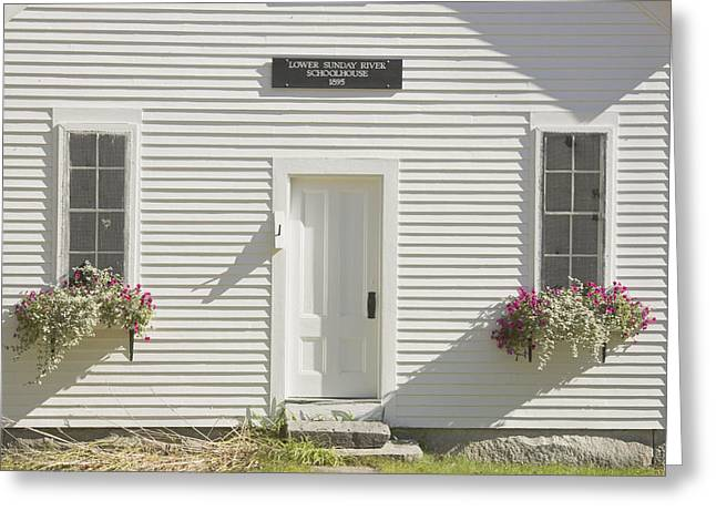 Old Maine Houses Greeting Cards - Old Schoolhouse Sunday River Maine Greeting Card by Keith Webber Jr