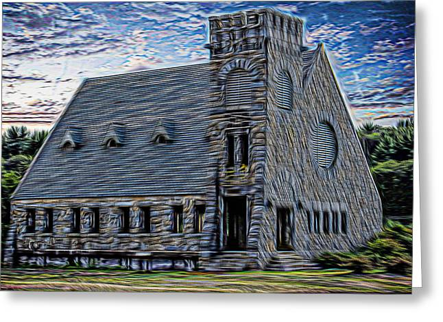 Historic Site Mixed Media Greeting Cards - Old Stone Church Greeting Card by Douglas Miller
