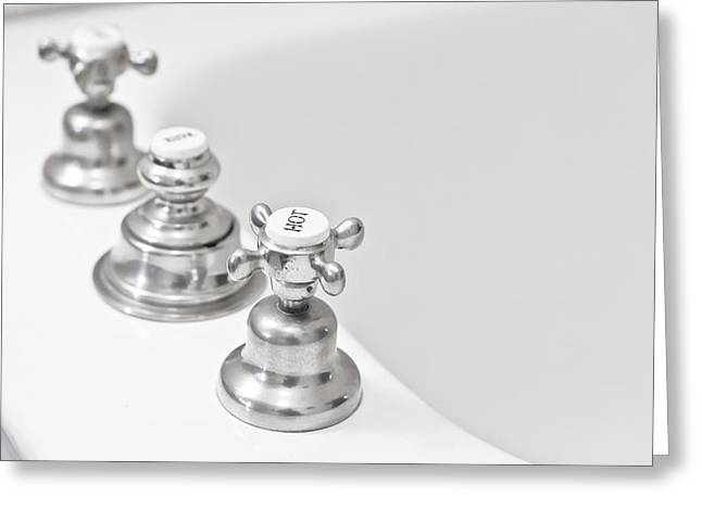 Plumbing Greeting Cards - Old taps Greeting Card by Tom Gowanlock