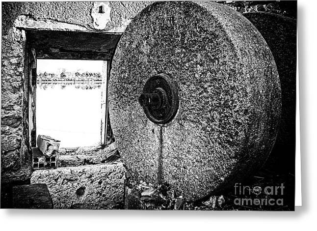 Millstone Greeting Cards - Old Tide Mill Greeting Card by Jose Elias - Sofia Pereira