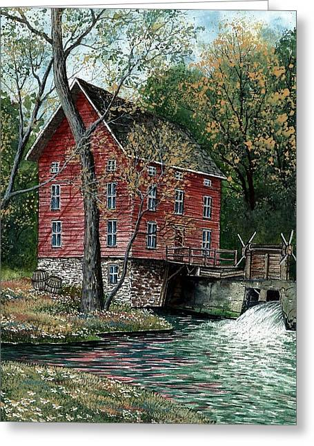 Award Winning Art Greeting Cards - Old Time Mill Greeting Card by Steven Schultz