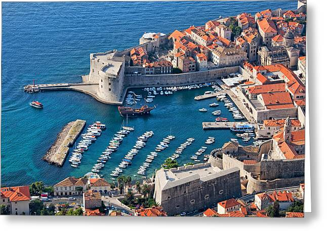 Old Home Place Greeting Cards - Old Town of Dubrovnik in Croatia Greeting Card by Artur Bogacki