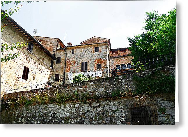 Old Churches Greeting Cards - Old Towns Of Tuscany San Gimignano Italy Greeting Card by Irina Sztukowski