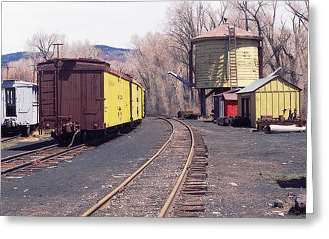 Terminal Photographs Greeting Cards - Old Train Terminal, Chama, New Mexico Greeting Card by Panoramic Images