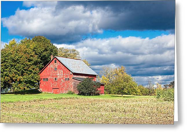 Charlotte Vermont Greeting Cards - Old Vermont Barn Greeting Card by William Alexander