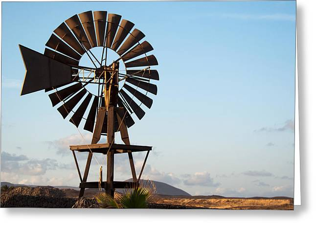 Generators Greeting Cards - Old Windmill on Lanzarote Greeting Card by Frank Gaertner