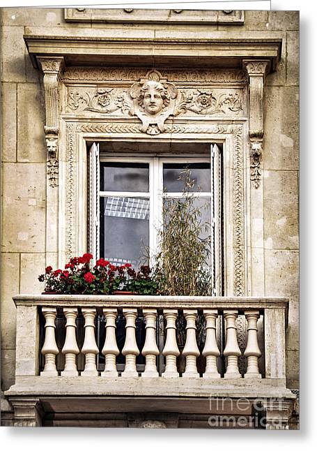 Stone Planter Greeting Cards - Old window Greeting Card by Elena Elisseeva