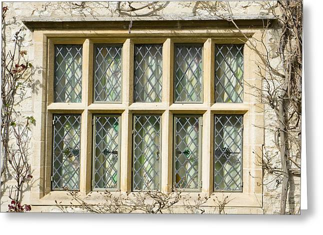Secrecy Greeting Cards - Old window Greeting Card by Tom Gowanlock
