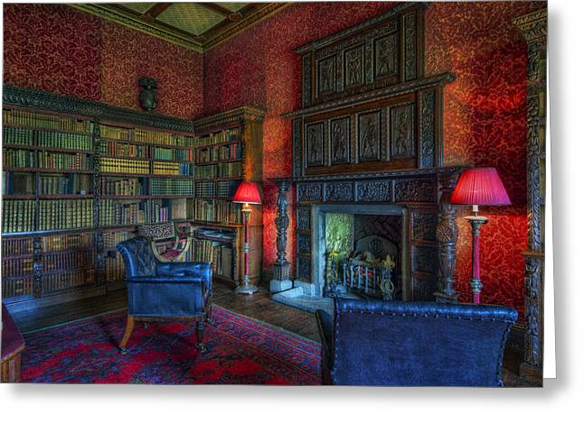 Lounging Digital Greeting Cards - Olde Sitting Room Greeting Card by Ian Mitchell