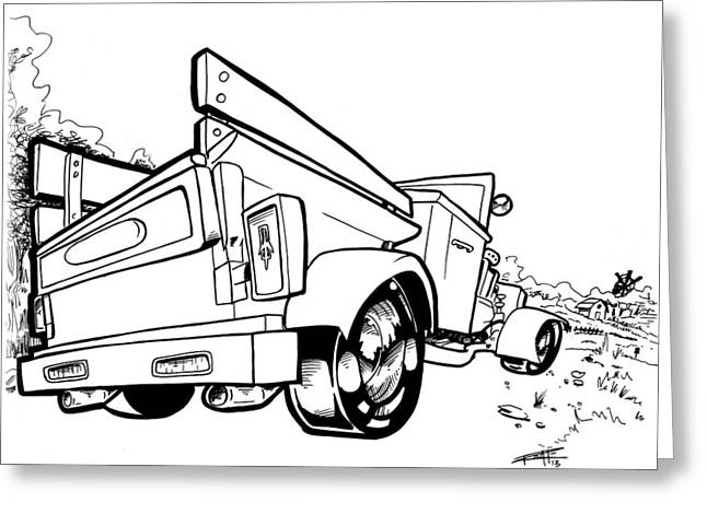 I Roate This Drawings Greeting Cards - Olds Greeting Card by Big Mike Roate