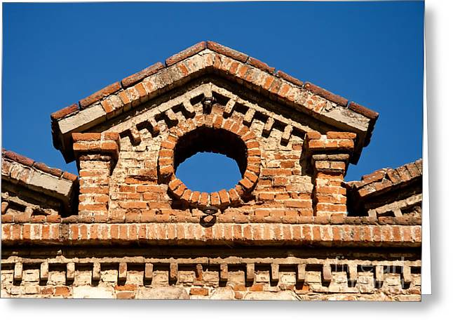 Olive Oil Greeting Cards - Olive Oil Factory Architecture Detail Greeting Card by Leyla Ismet