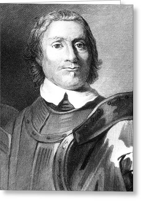 Oliver Cromwell Greeting Card by Collection Abecasis