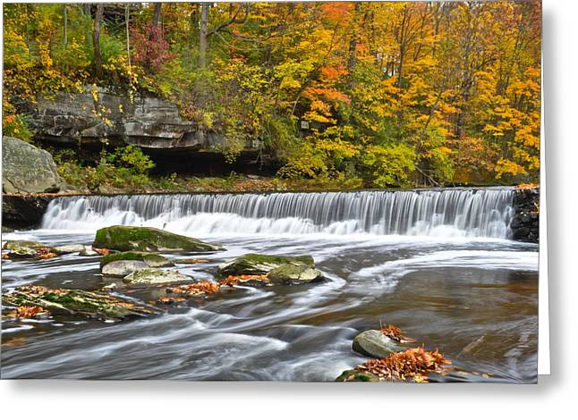Visceral Greeting Cards - Olmstead Falls Ohio Greeting Card by Frozen in Time Fine Art Photography