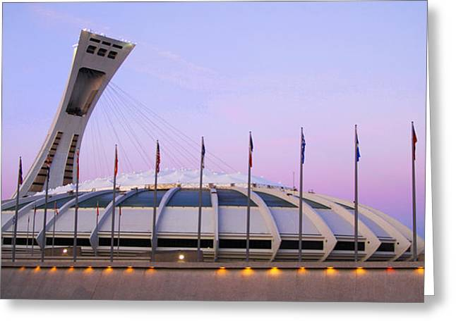 Olympic Stadium Greeting Card by Isabel Poulin