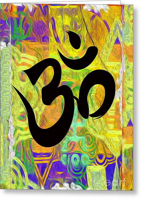 Gregory Dyer Digital Greeting Cards - Om Greeting Card by Gregory Dyer