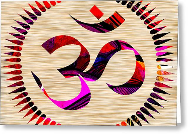 Meditation Greeting Cards - Om Greeting Card by Marvin Blaine