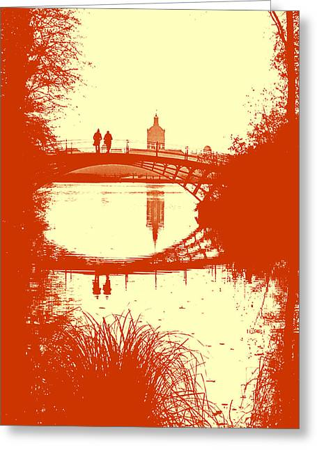 Berlin Germany Greeting Cards - On a Bridge in Berlin Greeting Card by Mountain Dreams