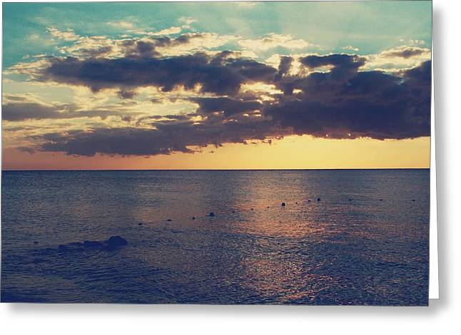 Cozumel Greeting Cards - On a Warm Evening Greeting Card by Laurie Search